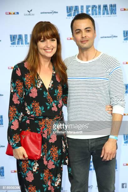 Nikolai Kinski and Ina Paule Klink attends the German premiere of the 'Valerian Die Stadt der Tausend Planeten' at CineStar on July 19 2017 in Berlin...