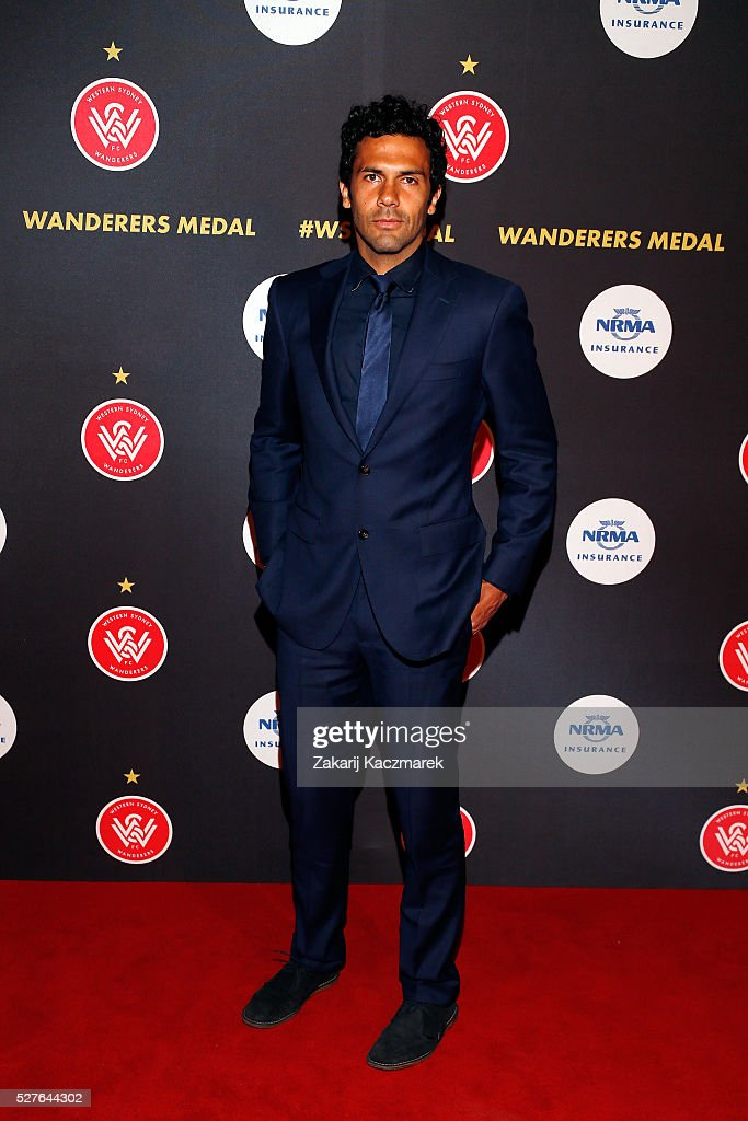 Nikolai Topor-Stanley arrives during the 2016 Western Sydney Wanderers Awards at Quodos Bank Arena on May 3, 2016 in Sydney, Australia.