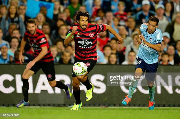Nikolai ToporStanley of the Wanderers controls the ball during the round two ALeague match between Sydney FC and the Western Sydney Wanderers at...