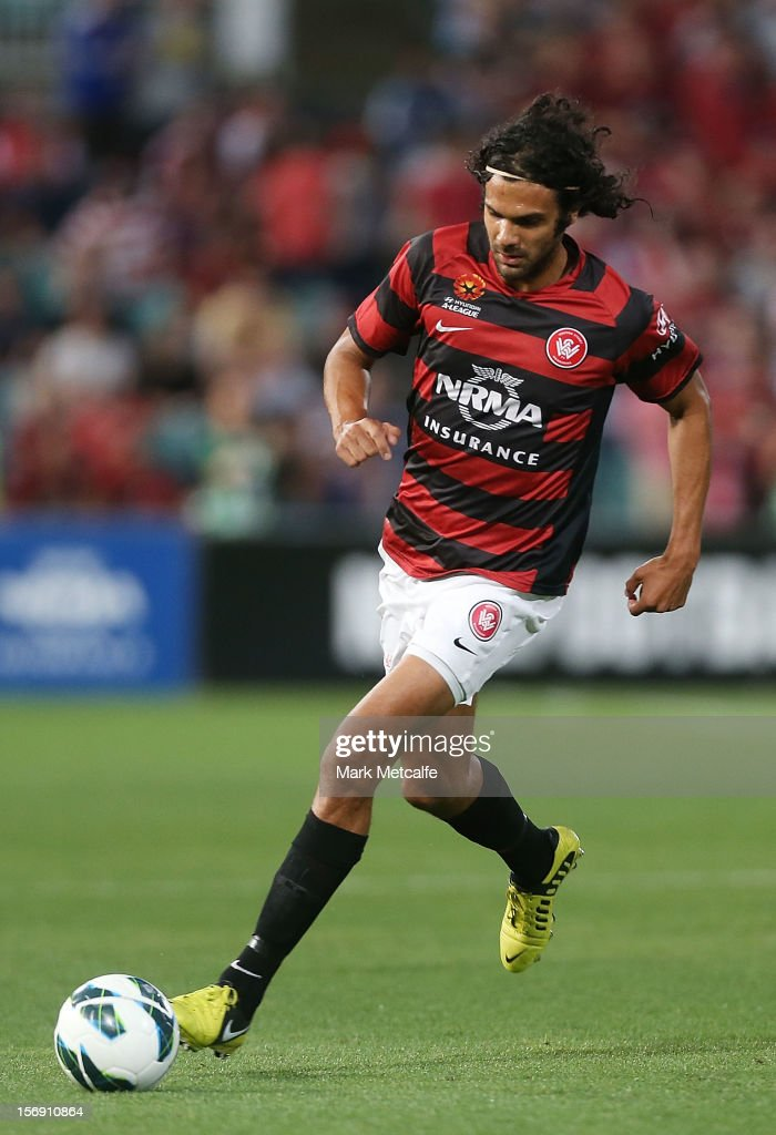 Nikolai Topor-Stanley of the Wanderers in action during the round eight A-League match between the Western Sydney Wanderers and the Melbourne Victory at Parramatta Stadium on November 24, 2012 in Sydney, Australia.