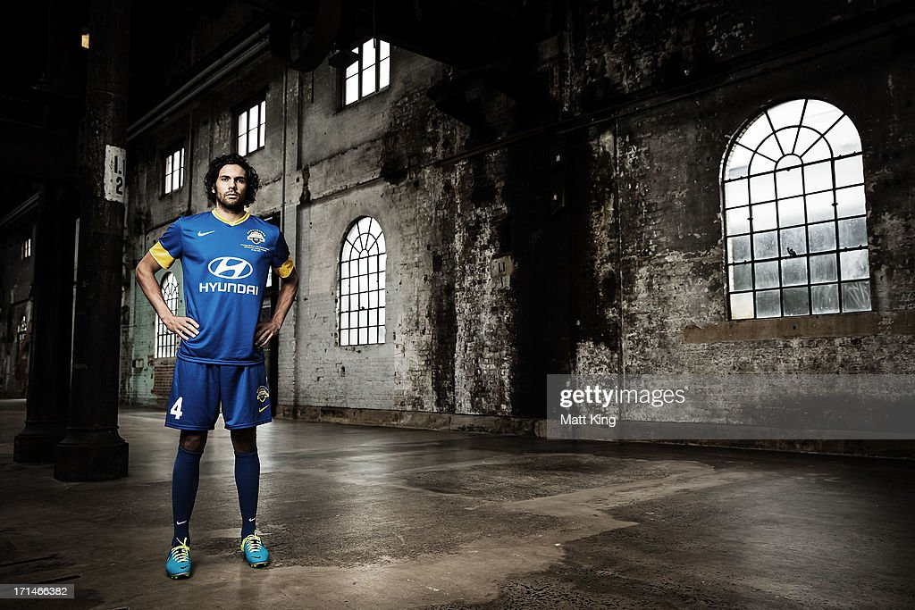 Nikolai Topor-Stanley poses during the A-League All Stars jersey launch at Carriageworks on June 25, 2013 in Sydney, Australia.