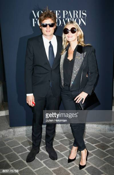 Nikolai Von Bismarck and Kate Moss attend the Vogue Foundation Dinner during Paris Fashion Week as part of Haute Couture Fall/Winter 20172018 at...