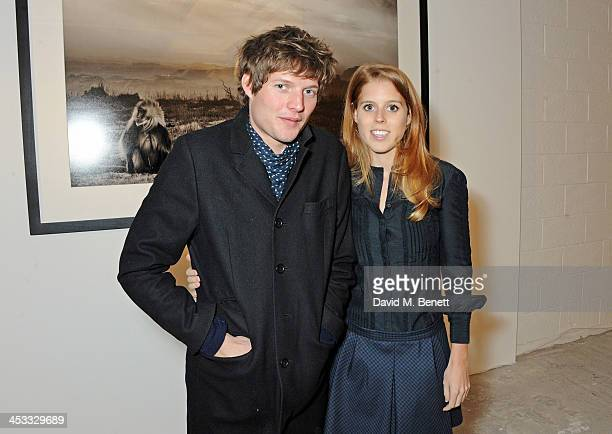 Nikolai Von Bismarck and Princess Beatrice of York attend a private view of Nikolai Von Bismarck's new photography exhibition 'In Ethiopia' at 12...