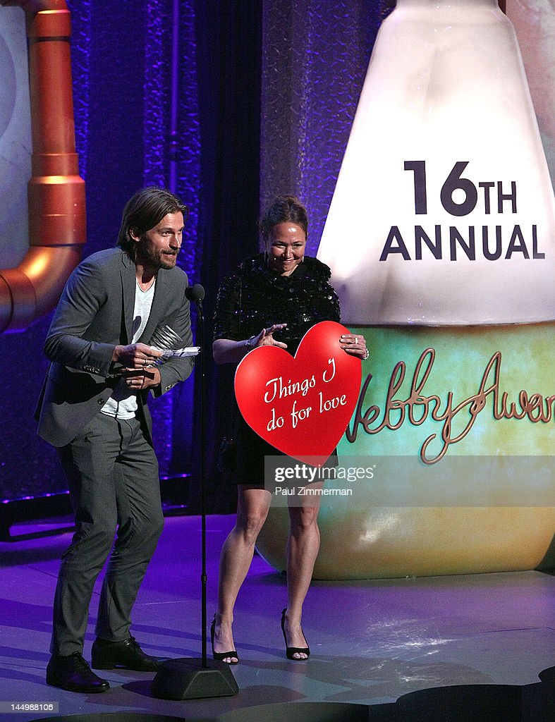 Nikolaj Coster-Waldau and Ella Grodem attend the 16th Annual Webby Awards at Hammerstein Ballroom on May 21, 2012 in New York City.