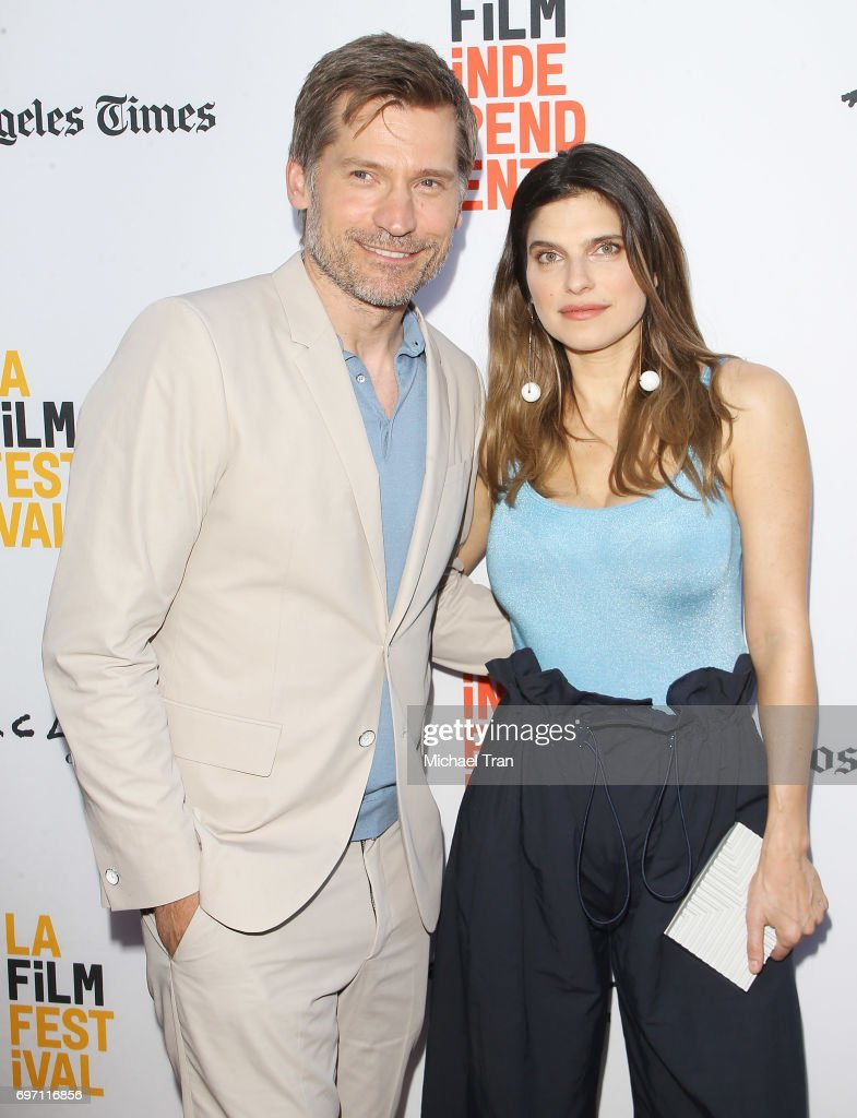 Nikolaj Coster-Waldau and Lake Bell arrive at the 2017 Los Angeles Film Festival - Gala Screening of 'Shot Caller' held at Arclight Cinemas Culver City on June 17, 2017 in Culver City, California.