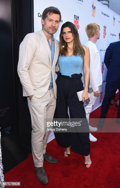 Nikolaj CosterWaldau and Lake Bell attend the 'Shot Caller' Premiere during the 2017 Los Angeles Film Festival at Arclight Cinemas Culver City on...