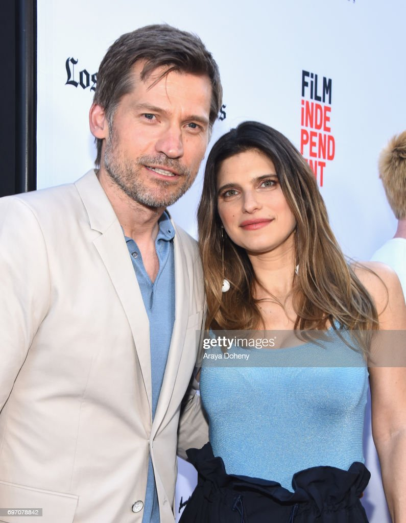 Nikolaj Coster-Waldau and Lake Bell attend the 'Shot Caller' Premiere during the 2017 Los Angeles Film Festival at Arclight Cinemas Culver City on June 17, 2017 in Culver City, California.