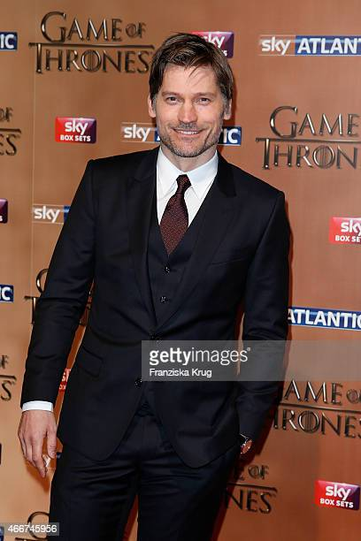 Nikolaj CosterWaldau arrives at the Tower of London for the world premiere of Game of Thrones S5 which starts on April 12 on Sky in Germany and...