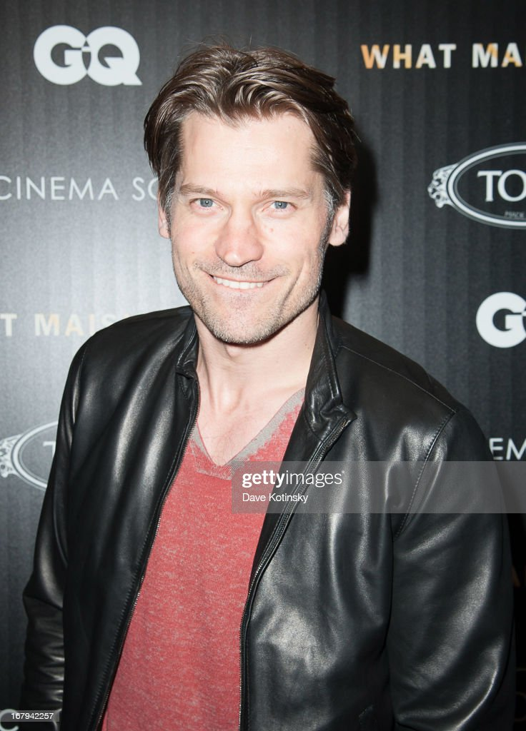 Nikolaj Coster-Waldau attends a screening hosted by The Cinema Society With Tod's & GQ of Millennium Entertainment's 'What Maisie Knew' presented by The Cinema Society at Sunshine Landmark on May 2, 2013 in New York City.