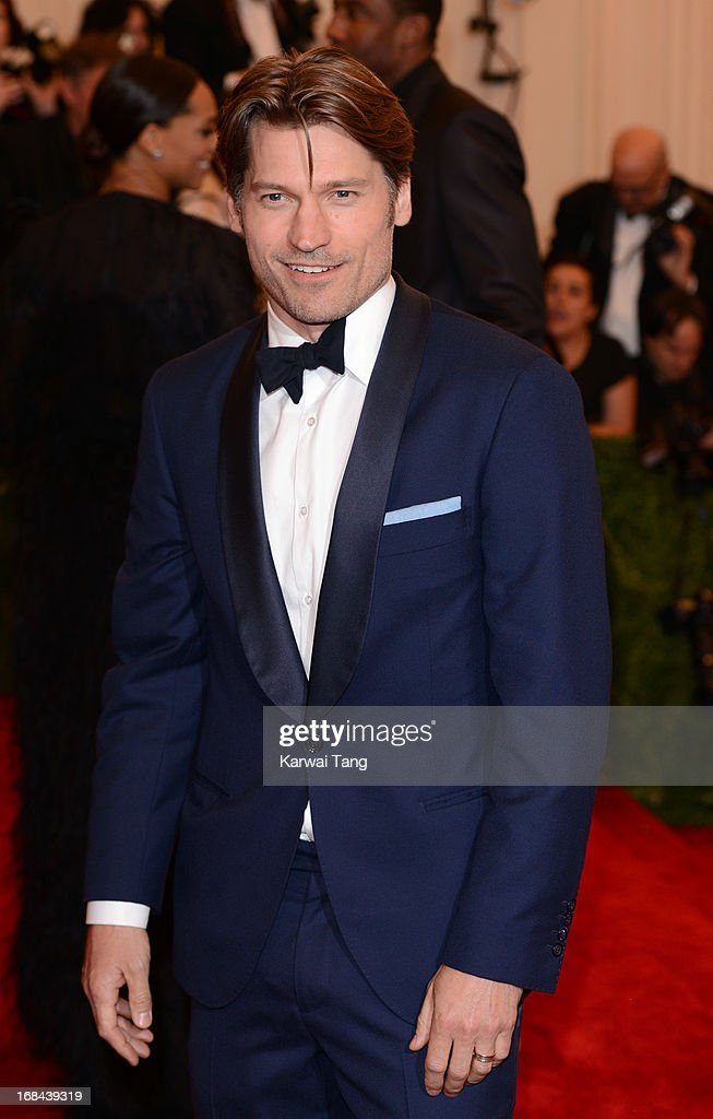 Nikolaj Coster-Waldau attends the Costume Institute Gala for the 'PUNK: Chaos to Couture' exhibition at the Metropolitan Museum of Art on May 6, 2013 in New York City.