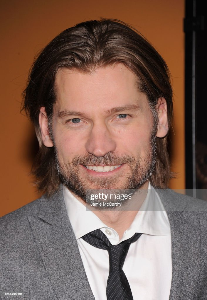 Nikolaj Coster-Waldau attends the 'Mama' New York Screening at Landmark's Sunshine Cinema on January 7, 2013 in New York City.