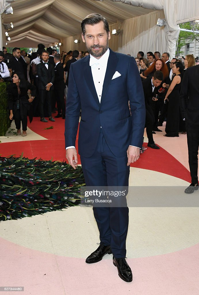 Nikolaj Coster-Waldau attends the 'Manus x Machina: Fashion In An Age Of Technology' Costume Institute Gala at Metropolitan Museum of Art on May 2, 2016 in New York City.
