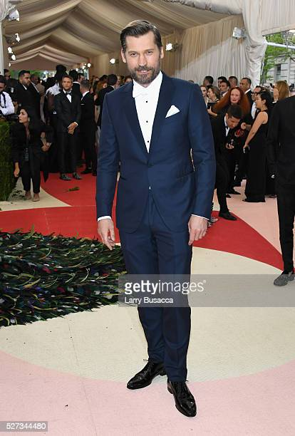 Nikolaj CosterWaldau attends the 'Manus x Machina Fashion In An Age Of Technology' Costume Institute Gala at Metropolitan Museum of Art on May 2 2016...