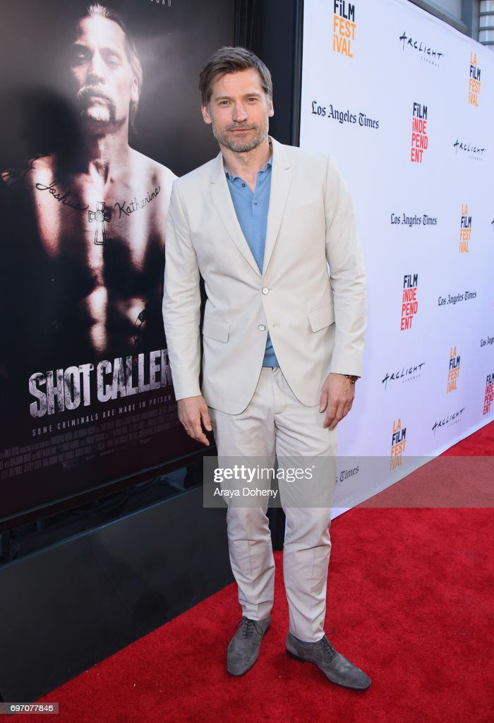 Nikolaj Coster-Waldau attends the 'Shot Caller' Premiere during the 2017 Los Angeles Film Festival at Arclight Cinemas Culver City on June 17, 2017 in Culver City, California.