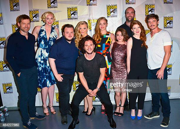 Nikolaj CosterWaldau Gwendoline Christie John Bradley Kit Harrington Natalie Dormer Sophie Turner Maisie Williams Rory McCann Rose Leslie and Pedro...