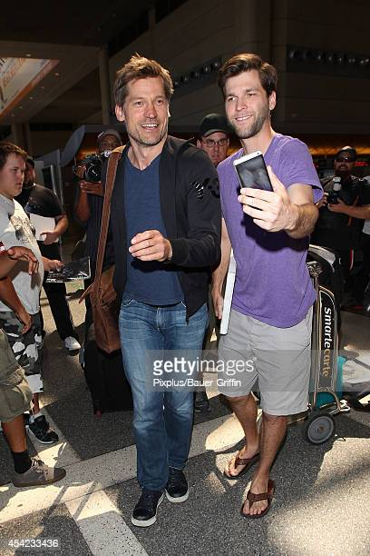 Nikolaj CosterWaldau is seen at LAX on August 26 2014 in Los Angeles California