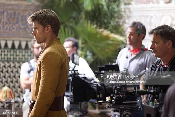 Nikolaj CosterWaldau is seen on the set filming 'Game of Thrones' at Real Alcazar on October 19 2014 in Seville Spain