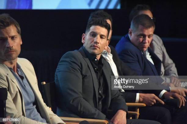 Nikolaj CosterWaldau Jon Bernthal Juan Pablo Raba Holt McCallany and Jeffrey Donovan attend the 'Shot Caller' Premiere during the 2017 Los Angeles...
