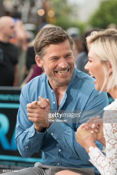 Nikolaj CosterWaldau visits 'Extra' at Universal Studios Hollywood on August 15 2017 in Universal City California