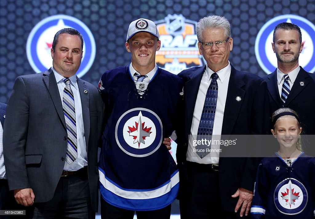 Nikolaj Ehlers is selected ninth overall by the Winnipeg Jets in the first round of the 2014 NHL Draft at the Wells Fargo Center on June 27, 2014 in Philadelphia, Pennsylvania.