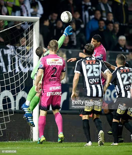 Nikolaos Karelis forward of KRC Genk pictured during Jupiler Pro League match between RCS Charleroi and KRC GENK on October 26 2016 in Charleroi...