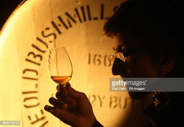 Nikolay Fedoseev from Russia at a blind tasting at the Bushmills distillery Co Antrim
