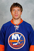Nikolay Kulemin of the New York Islanders poses for his official headshot for the 20152016 season on September 17 2015 at the Nassau Coliseum in...