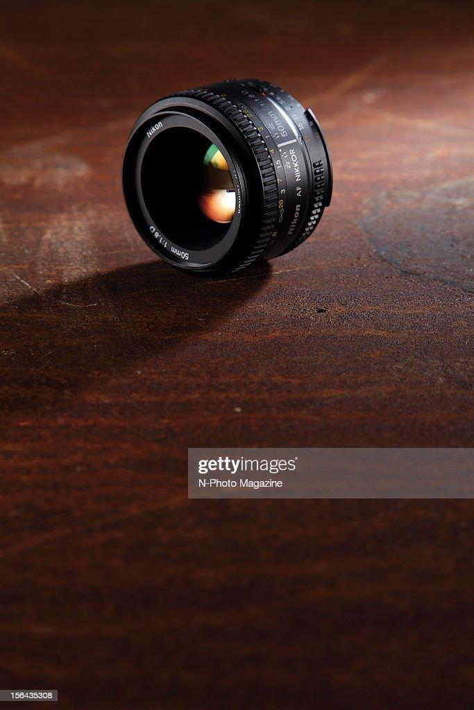A Nikon 50mm f/1.8D AF prime lens, taken on May 10, 2012.