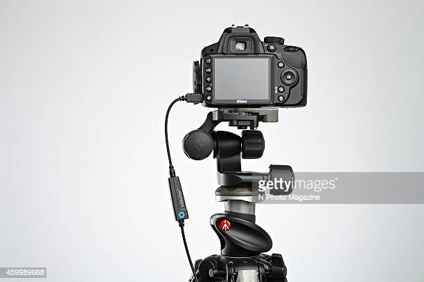 A Nikon DSLR mounted on a tripod and fitted with an ioShutter remote release taken on April 2 2014