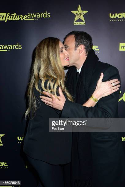 Nikos Aliagas and Clara Morgane attend the 'Melty Future Awards 2014' 1st Edition At Palais De Tokyo on January 230 2014 in Paris France
