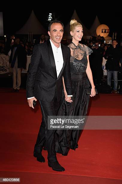 Nikos Aliagas and his wife attend the NRJ Music Awards at Palais des Festivals on December 13 2014 in Cannes France