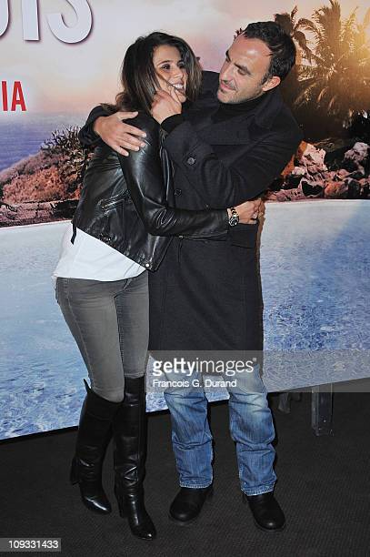 Nikos Aliagas and Karine Ferri attend 'Le Marquis' Paris premiere on February 21 2011 in Paris France