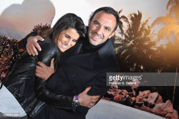 Nikos Aliagas and Karine Ferri attend 'Le Marquis' Paris premiere on February 21 2011 in Paris France