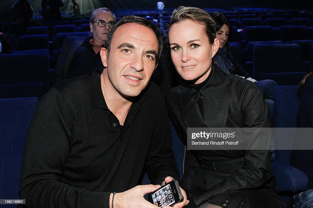 Nikos Aliagas and Laeticia Hallyday attend 'La Chanson De L'Annee 2012' Show Recording at Palais des Sports on December 10, 2012 in Paris, France.