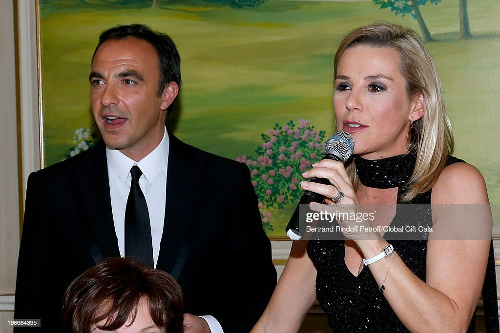 Nikos Aliagas and Laurence Ferrari attend 'Global Gift Gala' at Hotel George V on May 13 2013 in Paris France