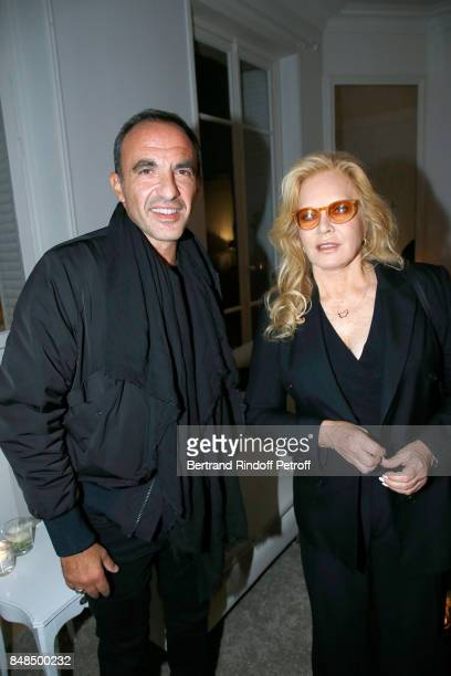 Nikos Aliagas and Sylvie Vartan attend the Dinner after Sylvie Vartan performed at L'Olympia on September 16 2017 in Paris France