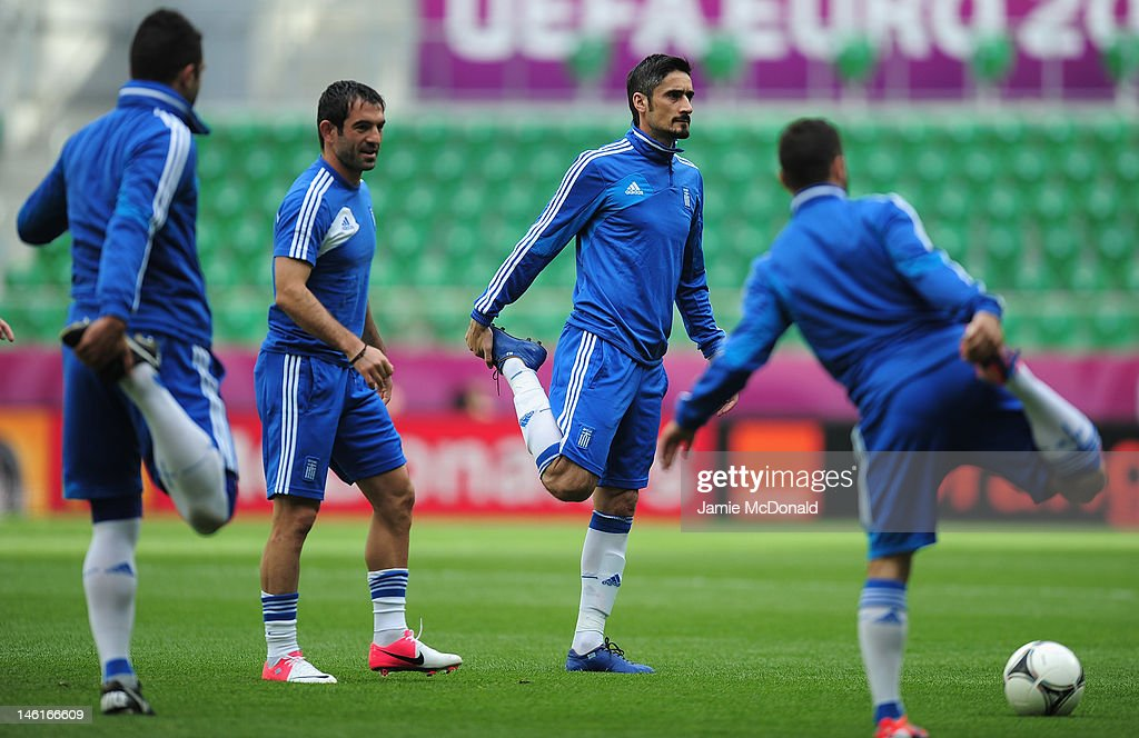 Greece Training and Press Conference - Group A: UEFA EURO 2012