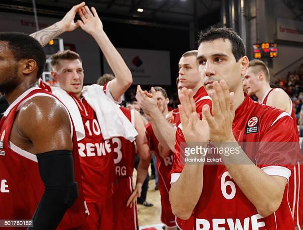 Nikos Zisis #6 of Brose Baskets Bamberg in action after the Turkish Airlines Euroleague Basketball Regular Season Round 10 game between Brose Baskets...