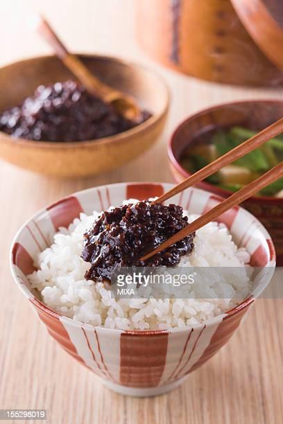 Nikumiso on Steamed Rice