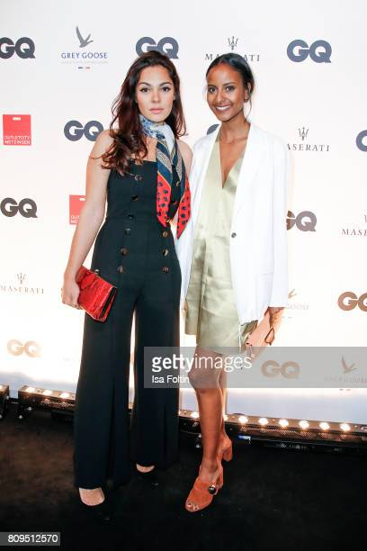 Nilam Farooq and Sara Nuru attend the GQ Mension Style Party 2017 at Austernbank on July 5 2017 in Berlin Germany