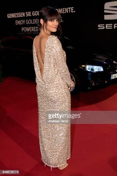 Nilam Farooq arrives for the Goldene Kamera on March 4 2017 in Hamburg Germany