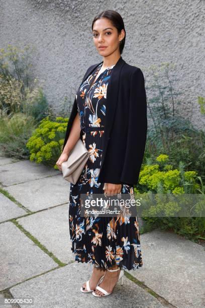 Nilam Farooq arrives to the Hugo Boss presentation during 'Der Berliner Mode Salon' Spring/Summer 2018 at St Agnes Church on July 6 2017 in Berlin...