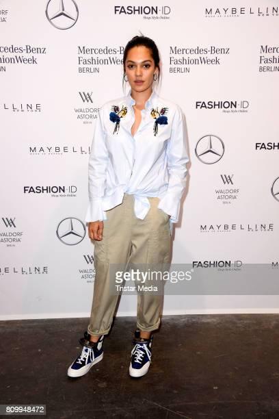 Nilam Farooq attends the Dorothee Schumacher Show during the MercedesBenz Fashion Week Berlin Spring/Summer 2018 at Kaufhaus Jandorf on July 7 2017...
