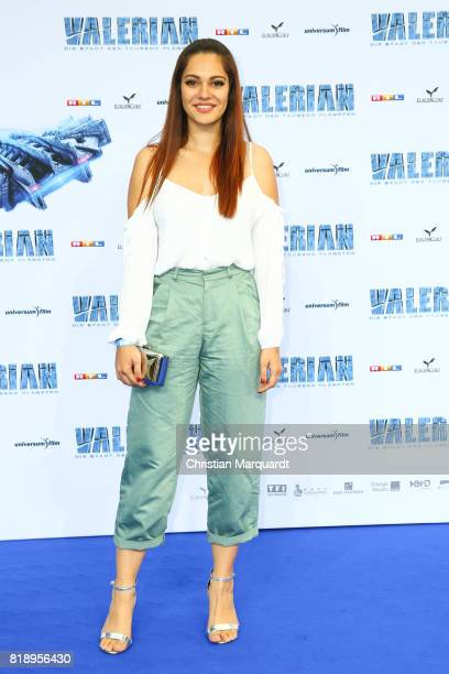 Nilam Farooq attends the German premiere of 'Valerian Die Stadt der Tausend Planeten' at CineStar on July 19 2017 in Berlin Germany