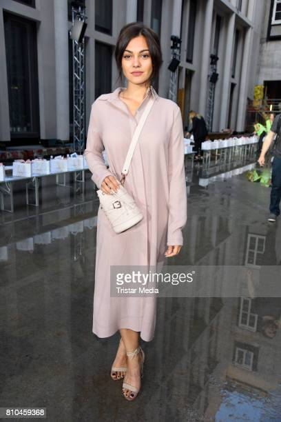 Nilam Farooq attends the Marina Hoermanseder show during the Berliner Mode Salon Spring/Summer 2018 at Kronprinzenpalais on July 7 2017 in Berlin...