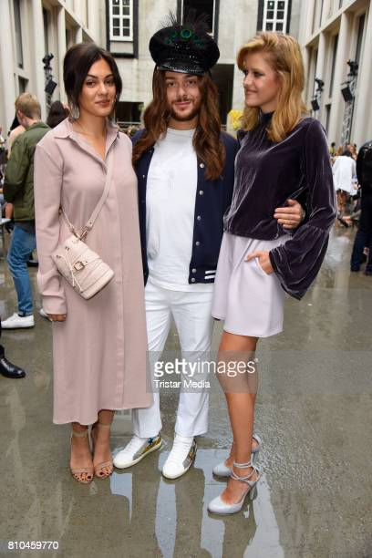 Nilam Farooq Riccardo Simonetti and Marie Nasemann attend the Marina Hoermanseder show during the Berliner Mode Salon Spring/Summer 2018 at...
