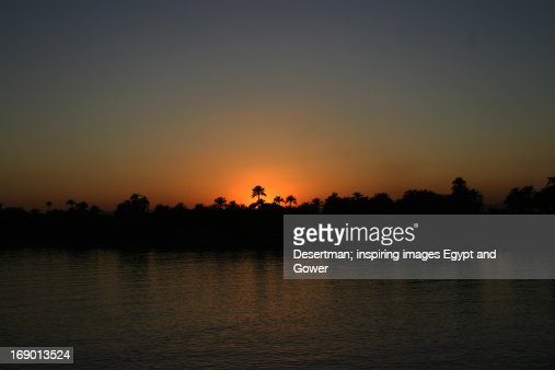Nile at sunset