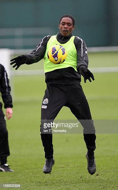 Nile Ranger during a Newcastle United Training Session at The Little Benton training ground on January 11 2013 in Newcastle upon Tyne England