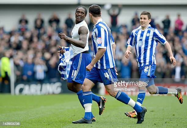 Nile Ranger of Sheffield Wednesday celebrates scoring the second goal during the Npower League One match between Sheffield Wednesday and Wycombe...