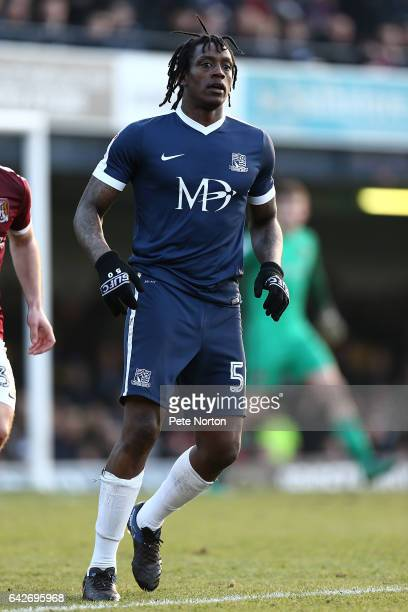 Nile Ranger of Southend United in action during the Sky Bet League One match between Southend United and Northampton Town at Roots Hall on February...